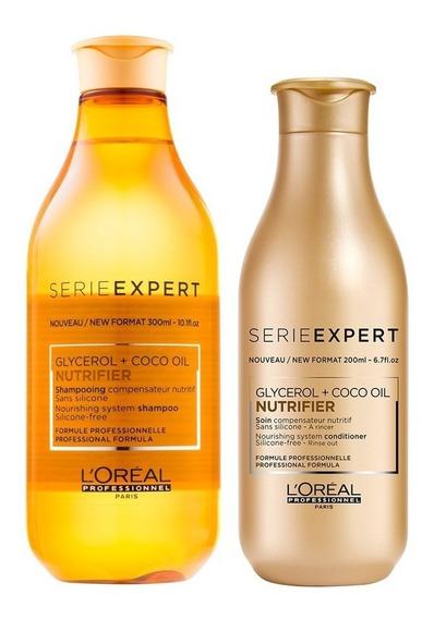 Shampoo Loreal Nutrifier Profesional 300ml + Enjuague 200 Ml