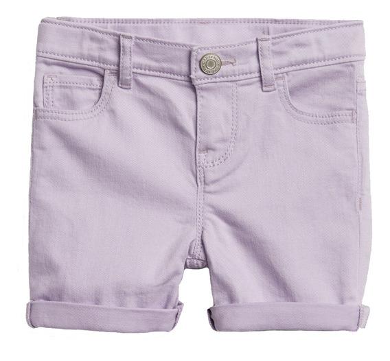 Short Niña Bebé Cintura Ajustable Algodón Midi Lavanda Gap