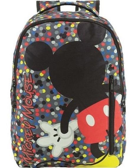 Mochila Escolar G Costas Mickey Disney - 9100