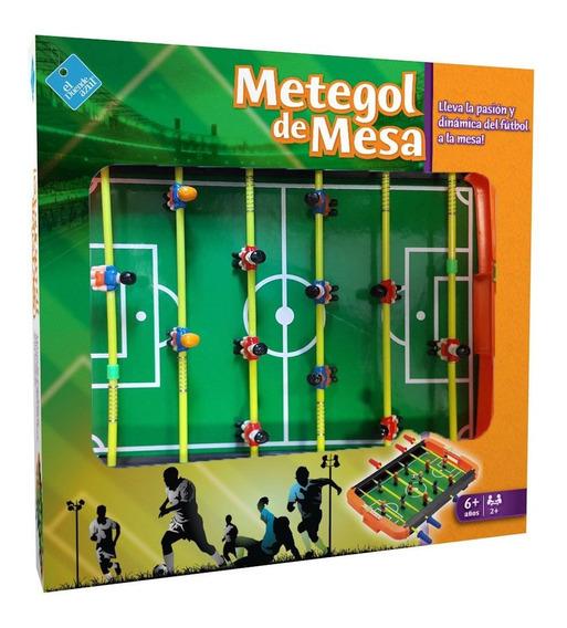 Metegol De Mesa Futbol Futbolin El Duende Azul 6305 Full