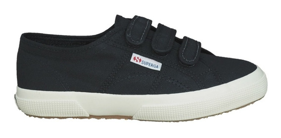 Tênis Superga 2750 Velcro Canvas Preto