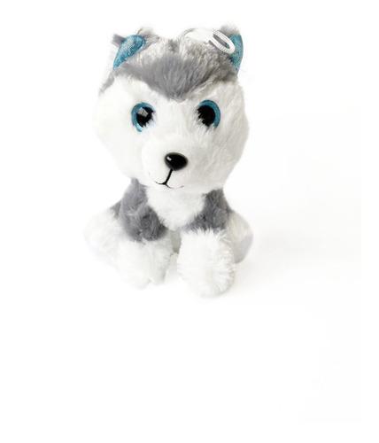 Perro Peluche Lobo Siberiano Ojos Grandes Brillante Amigos