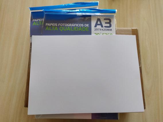 Papel Fotografico 180g Glossy A3 - 200 Folhas