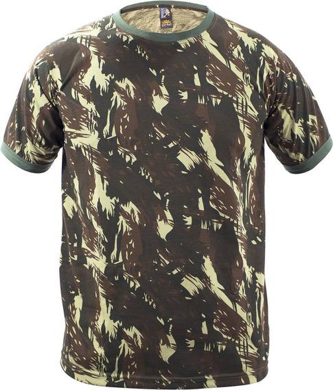 Camiseta Camuflada Malha Pv Padrão Eb Gola Redonda
