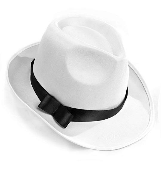 Men Manhattan Structured Gangster Fedora Hat Beige F-01