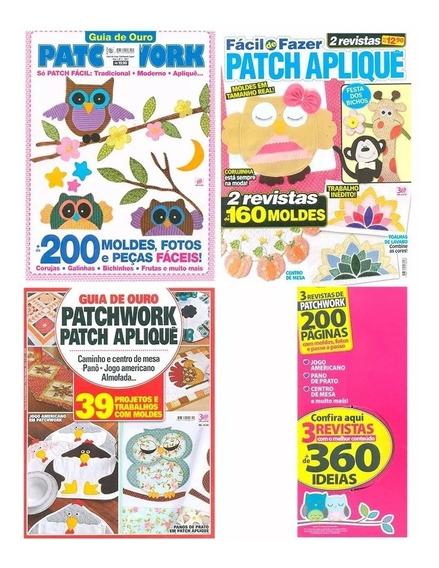 Patchwork Guia De Ouro Patch Apliquê 3 Revistas + 360 Ideias