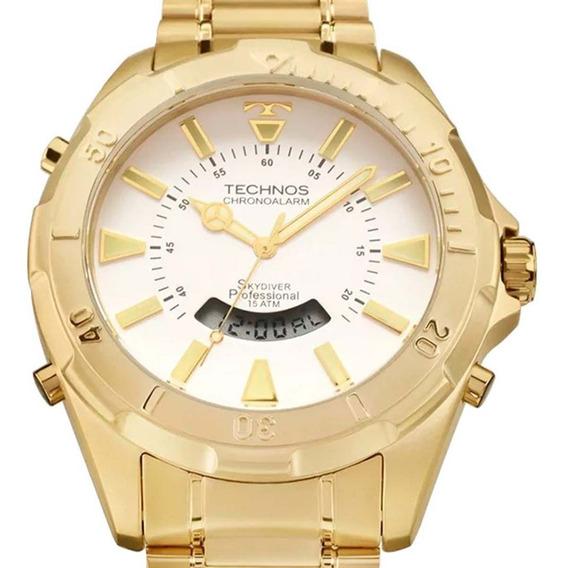 Relógio Technos Legacy Cronógrafo Masculino Original T20557/49b Dourado C/ Nf-e