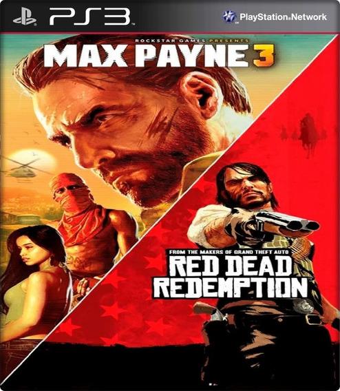 Max Payne 3 E Red Dead Combo 2 Jogos Ps3