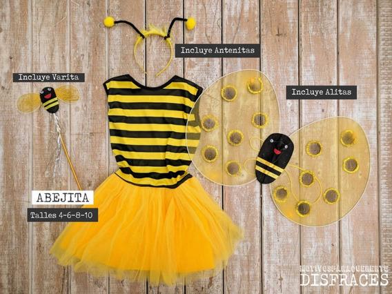 Disfraz Infantil Abejita Con Accesorios Tutú