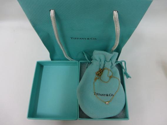 Collar Tiffany & Co. Elsa Peretti Diamante 1.15ct. Oro 750.