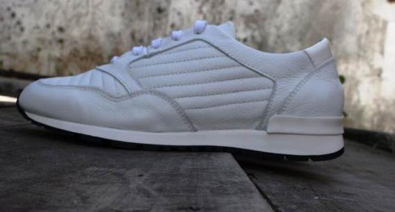 Zapatillas Blancas Tascani Cuero Talle 10.5