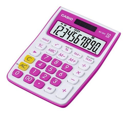 Calculadora Casio Escritorio Ms-10vc-rd
