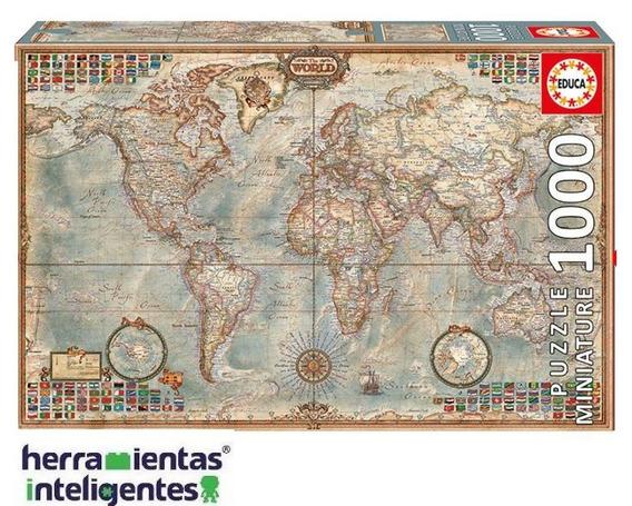 16764 Mapa Político Rompecabezas Miniatura 1000 Piezas Educa