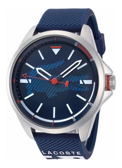 Relógio Lacoste Capbreton Fundo Azul Com Silicone Garantia
