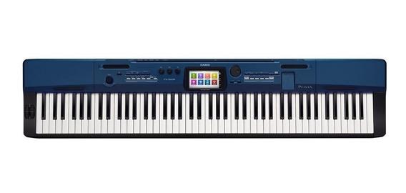 Piano Digital Casio Privia Px-560 Mbe Azul 88 Teclas E Pedal