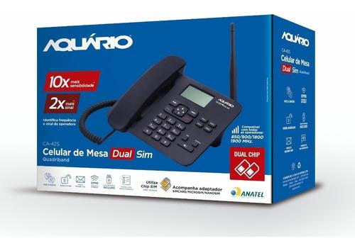 Imagem 1 de 4 de Telefone Celular Rural Quadriband Aquario Ca42s Dual Chip