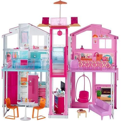 Casa De Boneca Da Barbie - Super Casa 3 Andares - Mattel