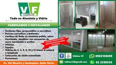 Aluminio, Vidrio Vf Y Acero Inoxidable - Cabina De Baño