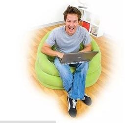 Poltrona Inflável Intex Verde C/ Almofada - Lounge - Puff