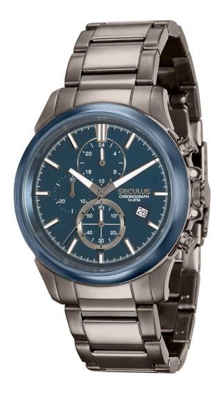 Relógio Seculus Masculino 13023gpsvqa2