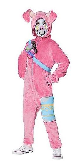 Disfraz Rabbit Raider Traje Fortnite Original Conejo Rosa
