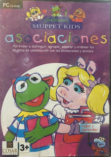 Cd Pc-rom Asociaciones - Muppet Kids +3 Años