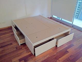 Cama De 2 Plazas Con 6 Cajones Colchon De 1.60x1.90/2.00
