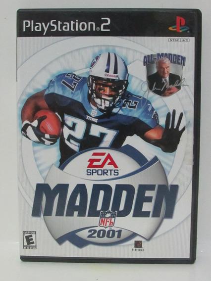 Ps2 - Madden Nfl 2001 - Game Original E Completo
