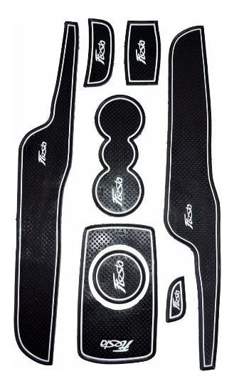 Kit Tapete Acessórios New Fiesta Console Porta Copo Objetos