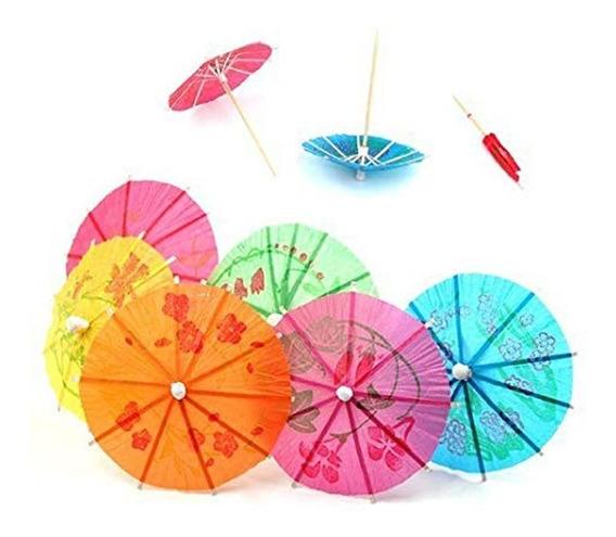 Paraguas Sombrillas Para Tragos Papel Cupcake Picadas X 24
