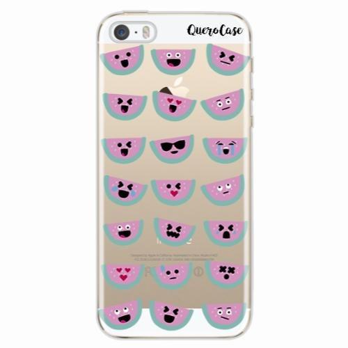 Capa Para Iphone Se Melancia Emoji