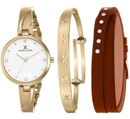 Relógio Analógico Daniel Klein Gift Set Dk12101-2 + Pulseira