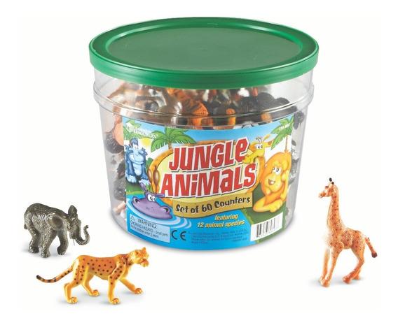 Animales De Jungla, Kit De 60 Unidades