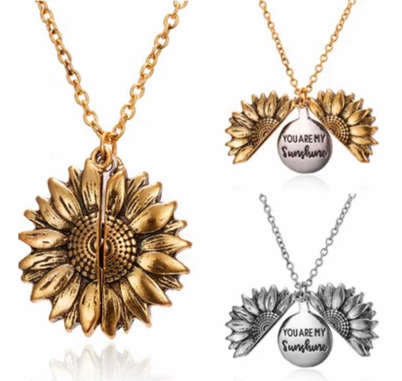 Collar Dije Girasol You Are My Sunshine