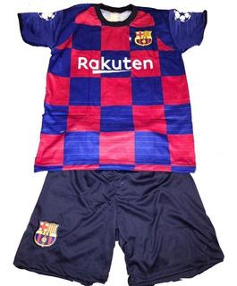 Uniforme Infantil Barcelona Camisa E Shorts Time Europa