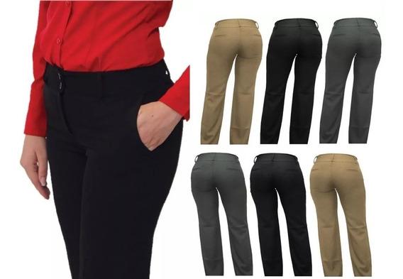 Pantalon Ejecutivo Dama Stretch Varios Colores
