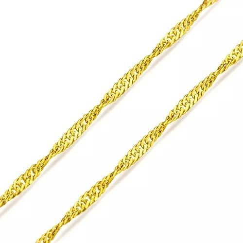 Cordão De Ouro 18k Singapura 45 Cm 0,7 Gramas Z02
