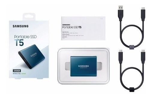 Ssd 500gb Externo Samsung T5 Portátil Usb 3.0 E 3.1 Original