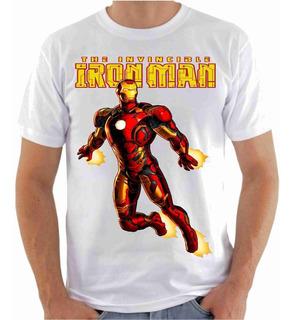 Camisa Camiseta, Homem De Ferro - Gibi Hq Série Filme