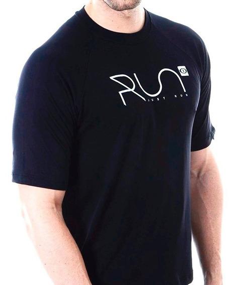 Camiseta Run Dry Fit Perforated Preta Academia Running
