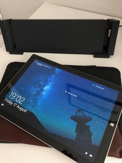 Surface Pro 3 256gb Com Base, Mouse, Caneta, Teclado E Capa