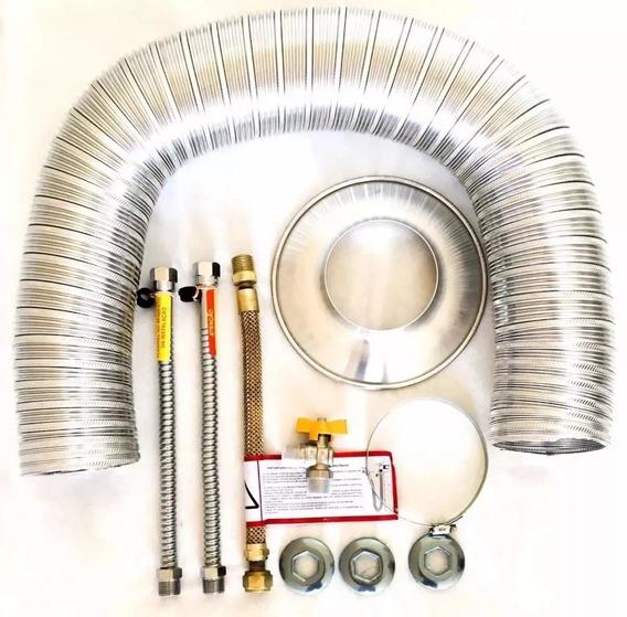 Kit De Instalação Para Aquecedor De Água A Gás 60mm X 150cm