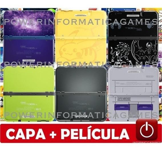 New 3ds Xl 64gb 4000 Jogos Capa Acrílico + Película + Fonte