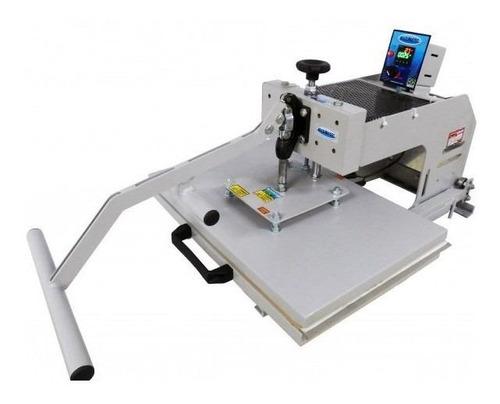 Prensa sublimadora e transfer manual Maquinatec 40x60 Bandeja Deslizante branca 220V