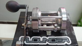 Reel Rotativo Flounder Crono Cb 70 Freno Centrifugo.
