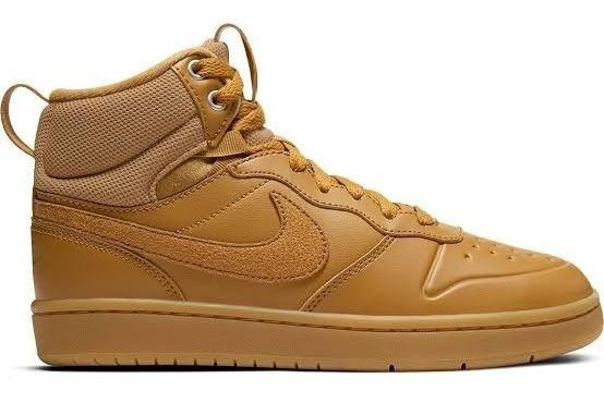 Tenis Nike Court Borough Mid 2 Boot (gs) Camel Bq5440 700