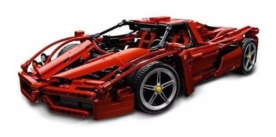 Bloco De Montar 1359 Peças Carro Racer Ferrari Enzo Red