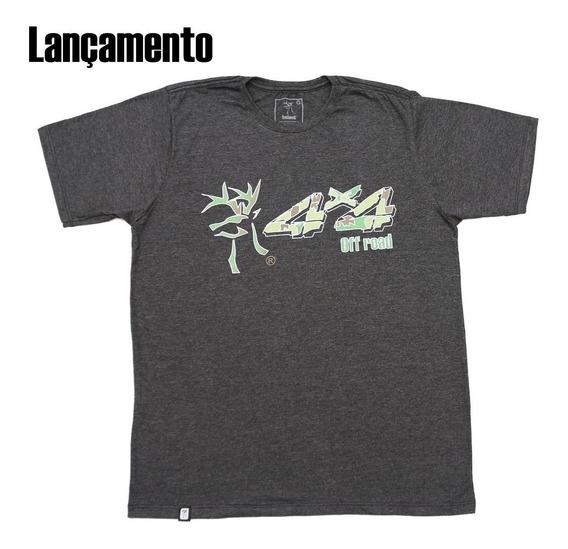 Camiseta Country Original 4x4 Off Road Redbuck Cinza Mescla