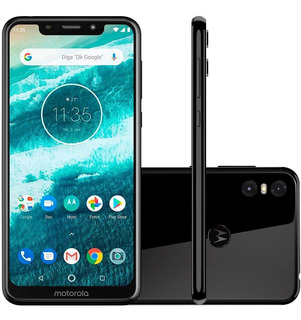 Smartphone Motorola Moto One, Preto, Xt1941, Tela 5,9 , 64gb