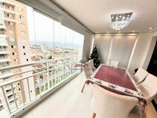 Apartamento Com 3 Dormitórios À Venda, 125 M² Spazzio Club - Vila Santana - Mogi Das Cruzes/sp - Ap0311